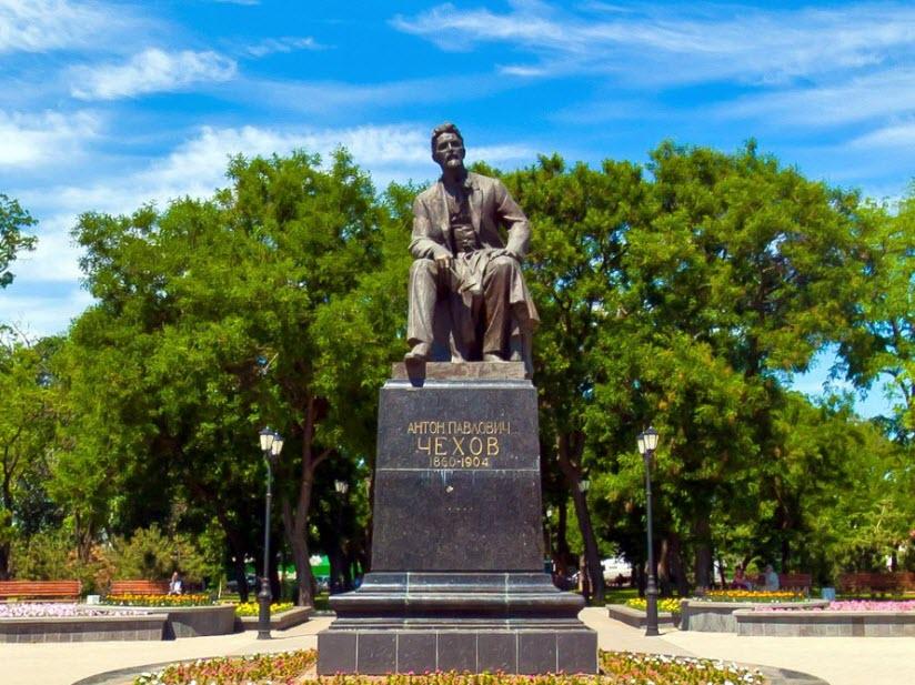 Памятник чехову в таганроге есть цены на памятники в минске рязани