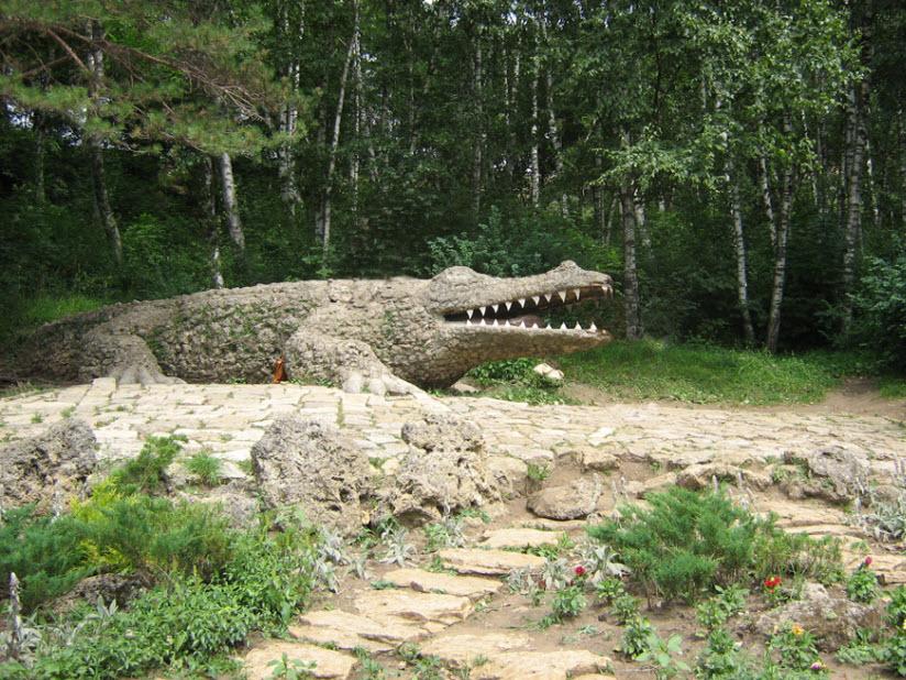 Скульптура «Крокодил»