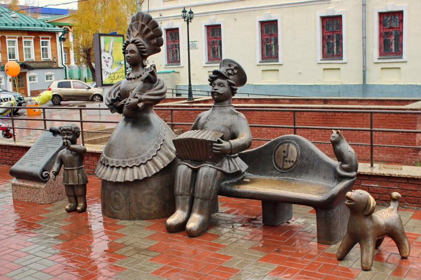 Скульптурная группа Семья