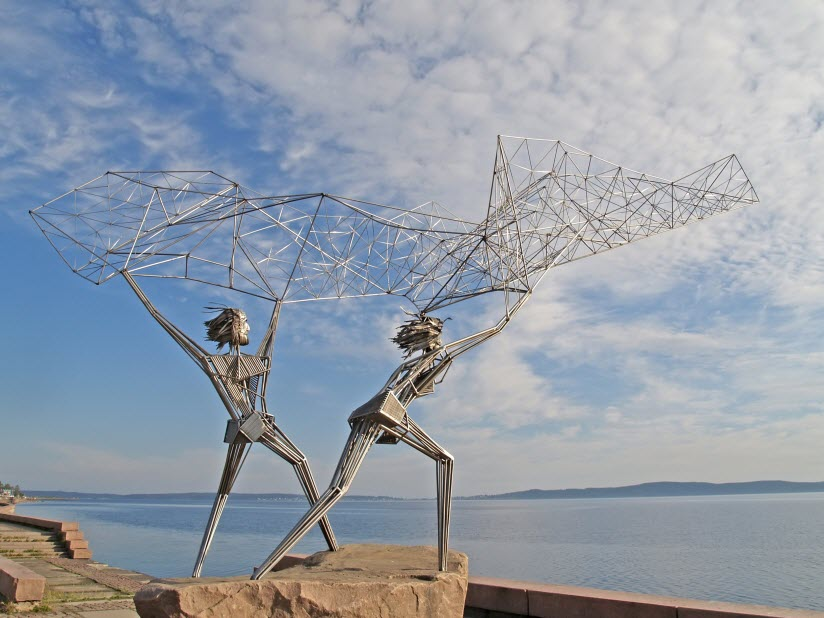 Скульптурная композиция Рыбаки