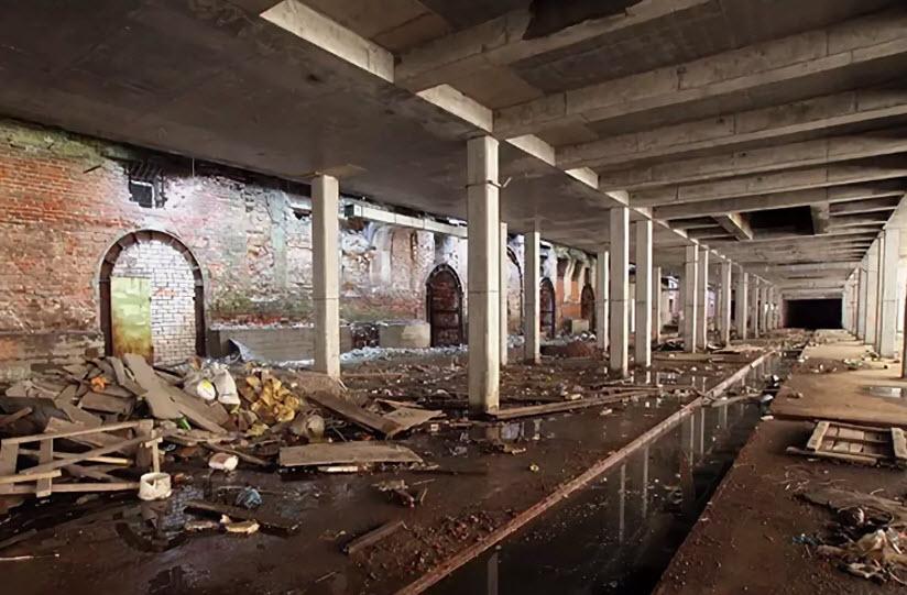 заброшенные подземные галереи на Баумана