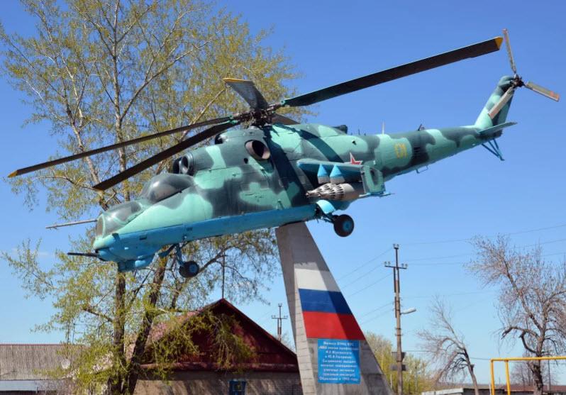 Памятник вертолету МИ-24