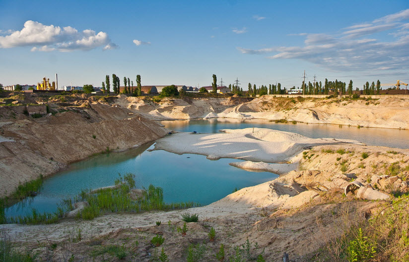Голубое озеро в Отрожке