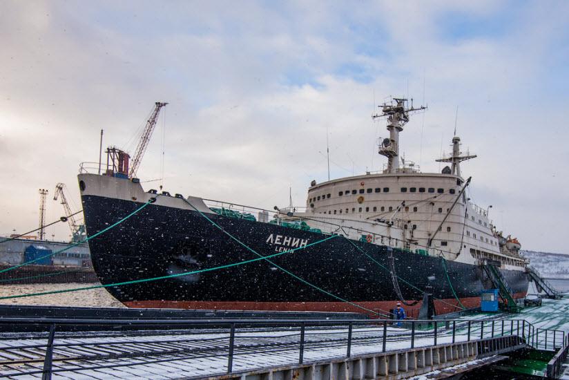 Причал атомного ледокола «Ленин»