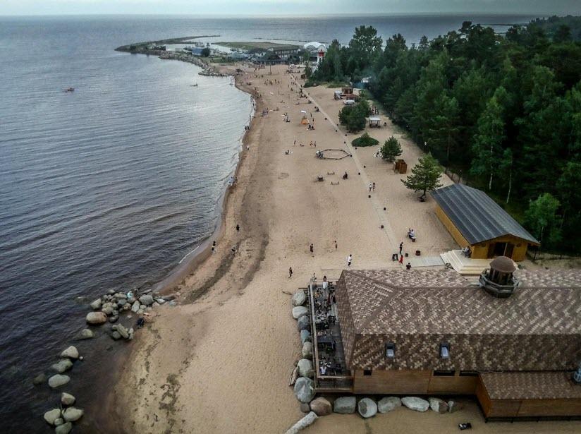 Пляж посёлка Ладожское озеро
