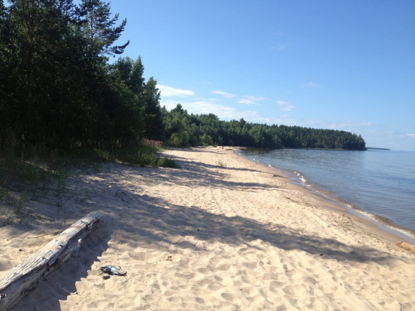 Пляж в селе Моторное