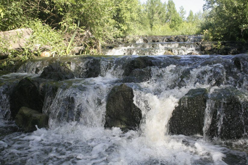 Водопад в селе Заячье