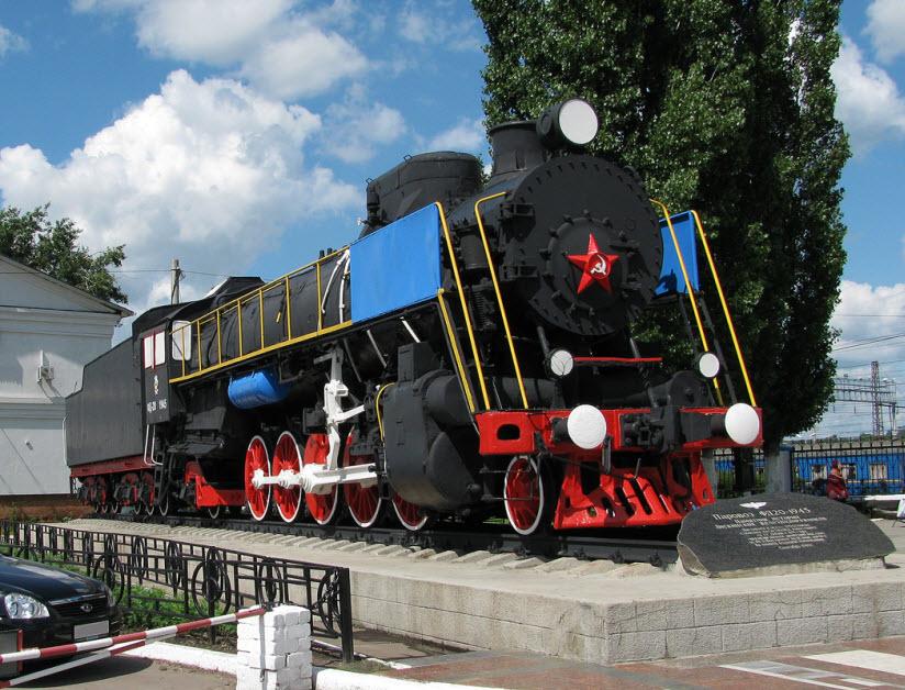 Памятник-паровоз