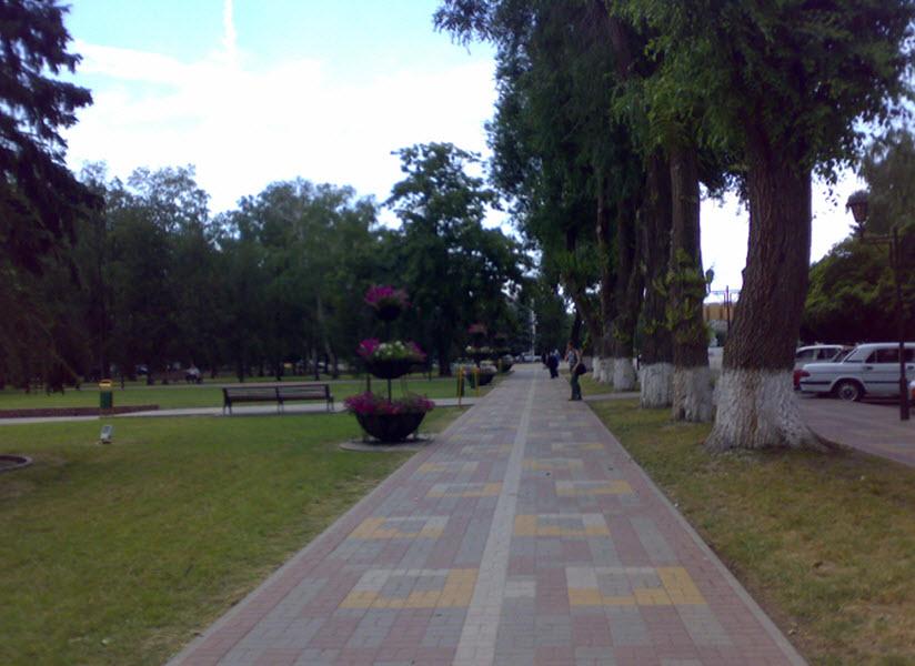 Сквер на улице Гоголя
