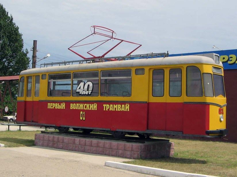 Памятник первому трамваю