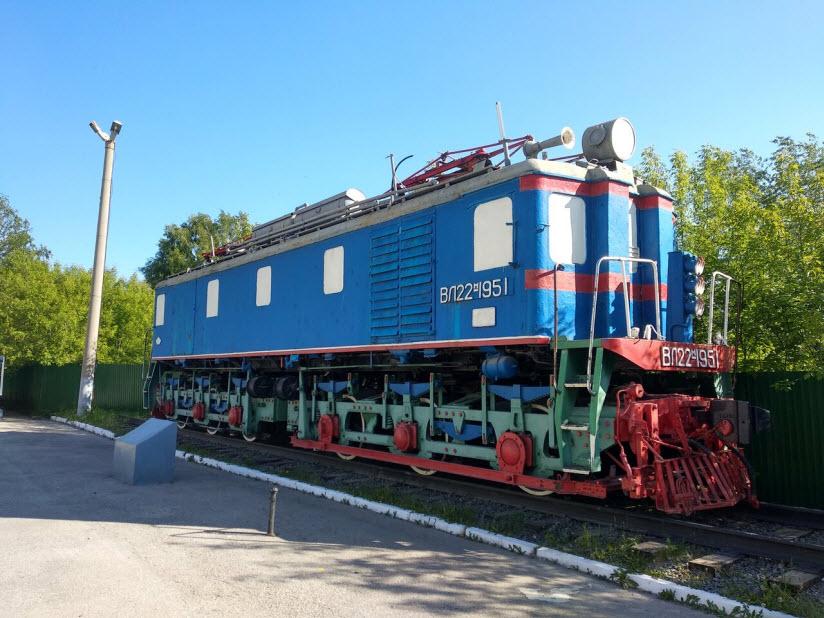 Памятник электровозу ВЛ22м