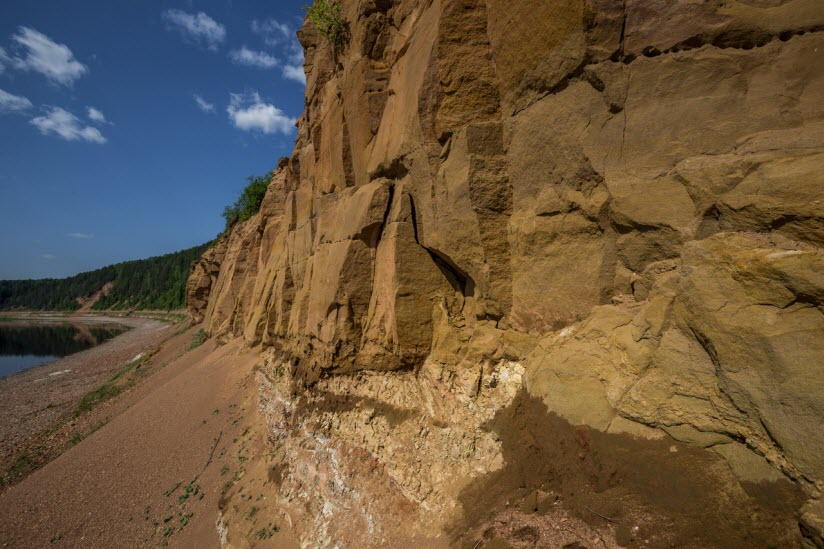 Геологическое обнажение Мяколица