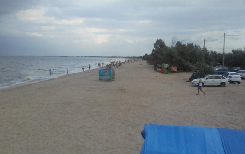 Пляж автокемпинга «Дружба»