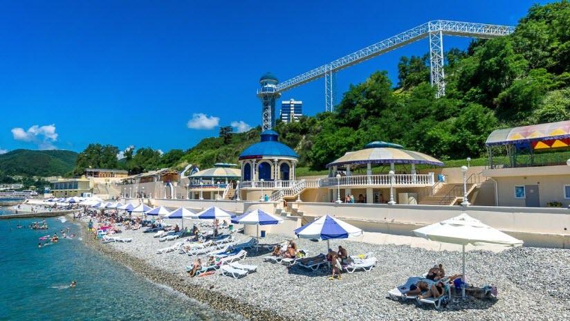 Пляж оздоровительного комплекса «Прометей»