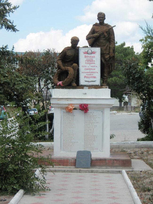 Памятник жителям села Мысхако, погибшим в Великой Отечественной войне