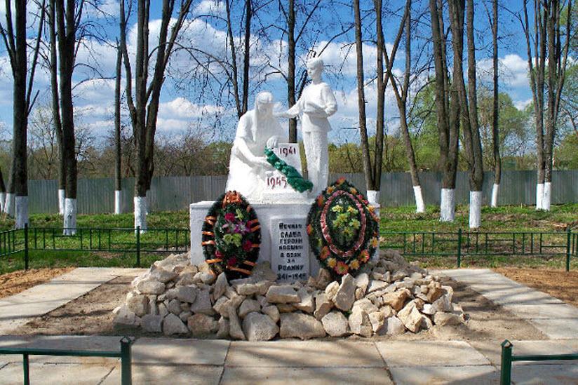 Памятник на братской могиле на территории бывшего льнозавода