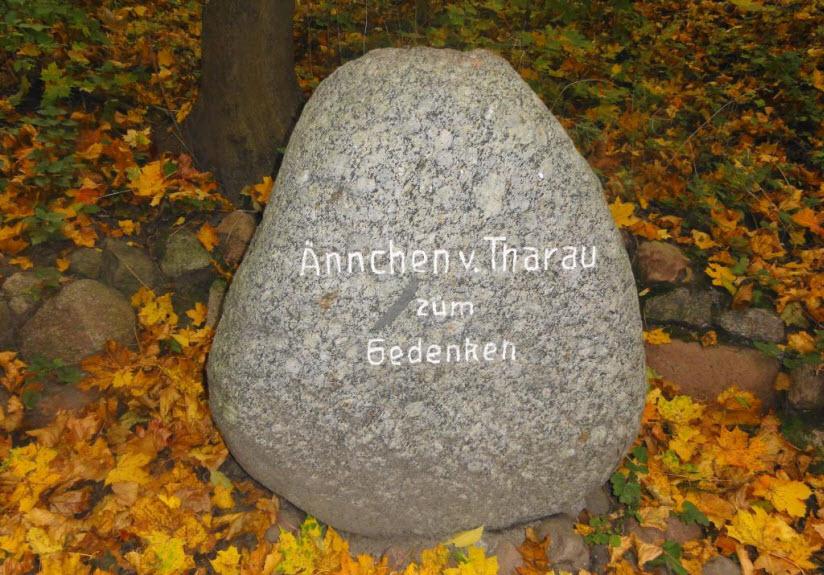 Памятный камень Анхен из Тарау