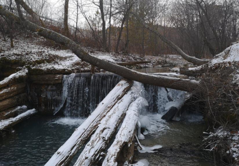 Водопад в с. Новинка