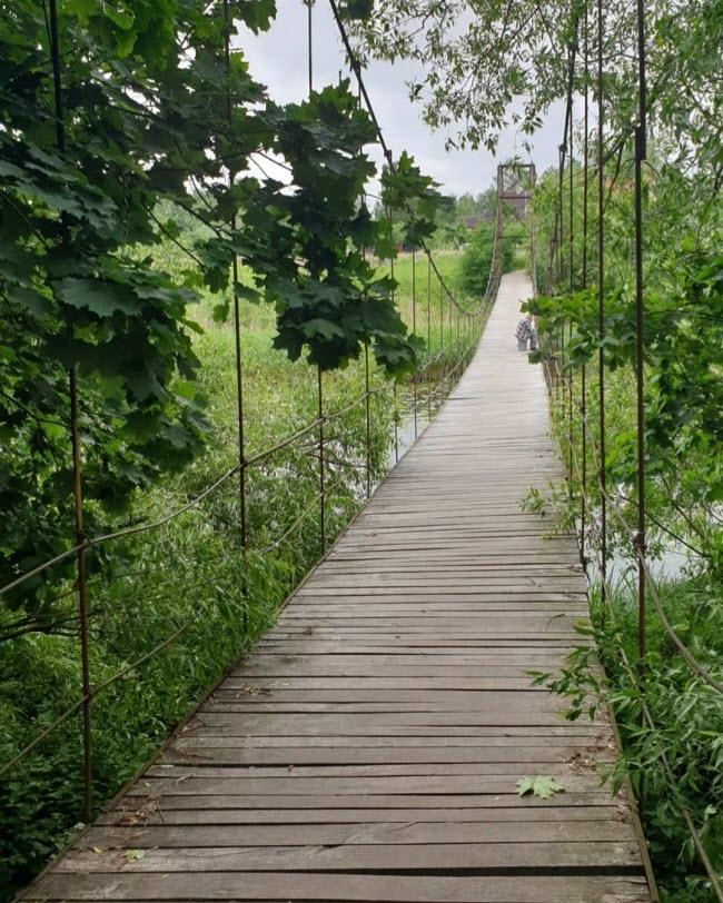 Подвесной мост через реку Лаву